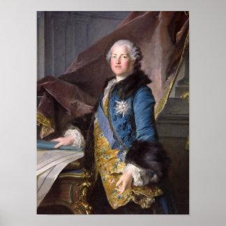 アベルFrancoisポアソンMarquis de Marigny 1755年 ポスター