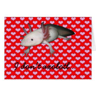 アホロートルのバレンタインカード カード