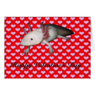 アホロートルのバレンタイン カード