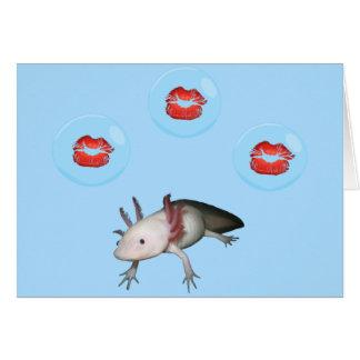 アホロートルはバレンタインカードに接吻します カード