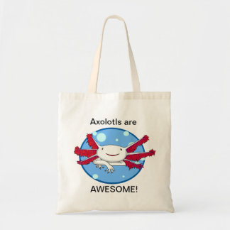 アホロートルは素晴らしい(白い)プラスチック・バッグです トートバッグ