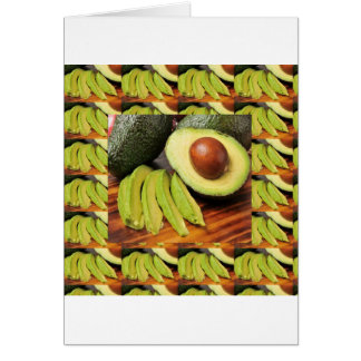 アボカドの健康な食糧原料はチャツネにソースをかけます カード