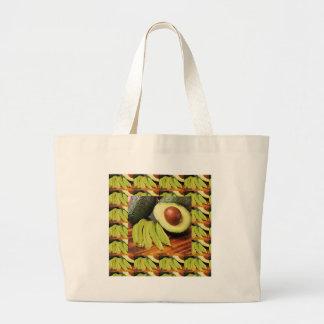 アボカドの健康な食糧原料はチャツネにソースをかけます ラージトートバッグ