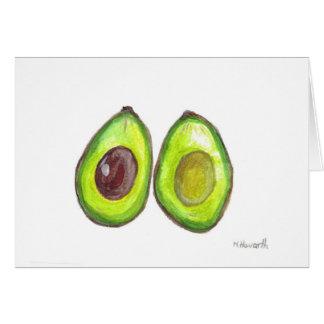 アボカドの緑のフルーツ カード