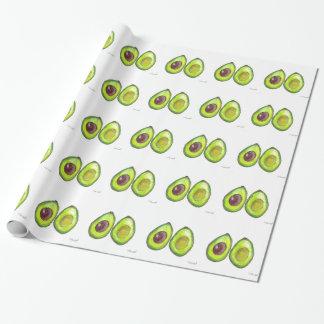 アボカドの緑のフルーツ ラッピングペーパー