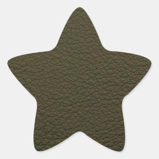 アボカドの緑の模造のな革 星形シール・ステッカー
