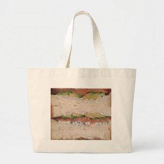 アボカド及びロックスサンドイッチ ラージトートバッグ