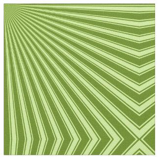 アボカド色のストライプのファンキーなパターン ファブリック