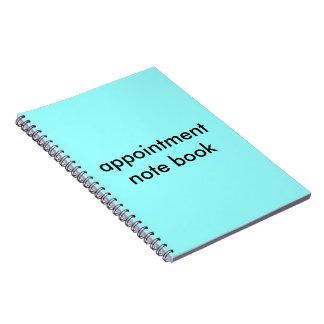 アポイントメントのノート ノートブック