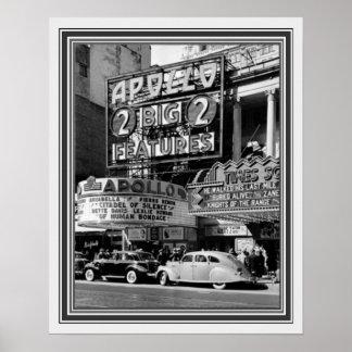 アポロ劇場16 x 20のB&Wのヴィンテージの写真 ポスター