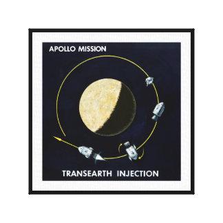 アポロ計画-月の代表団の芸術家の概念 キャンバスプリント