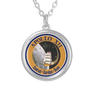 アポロ12代表団パッチのロゴ シルバープレートネックレス