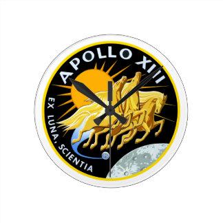 アポロ13: 存続 ラウンド壁時計