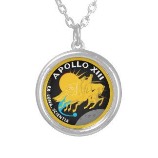 アポロ13 NASAの代表団パッチのロゴ シルバープレートネックレス