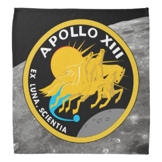 アポロ13 NASAの代表団パッチのロゴ バンダナ