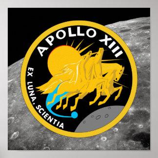 アポロ13 NASAの代表団パッチのロゴ ポスター