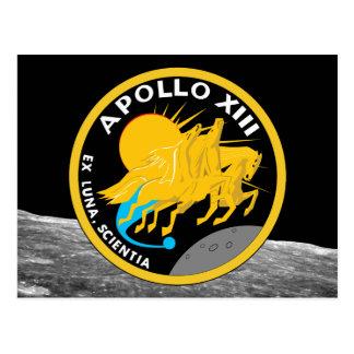 アポロ13 NASAの代表団パッチのロゴ ポストカード