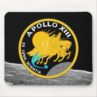 アポロ13 NASAの代表団パッチのロゴ マウスパッド