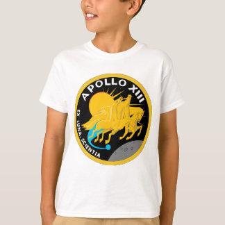 アポロ13 NASAの代表団パッチのロゴ Tシャツ