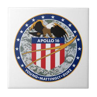 アポロ16 NASAの代表団パッチのロゴ タイル