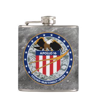 アポロ16 NASAの代表団パッチのロゴ フラスク