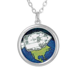 アポロ7 NASAの代表団パッチのロゴ シルバープレートネックレス