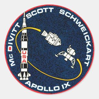 アポロ9 NASAの代表団パッチのロゴ ラウンドシール