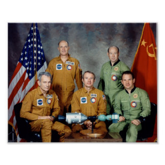 アポロSoyuzテストプロジェクトのための乗組員のポートレート ポスター
