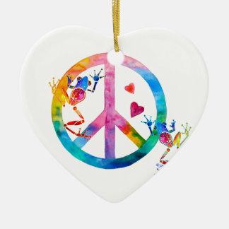 アマガエル4の平和 セラミックオーナメント