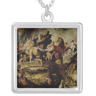 アマゾンおよびギリシャ人、c.1617の戦い シルバープレートネックレス