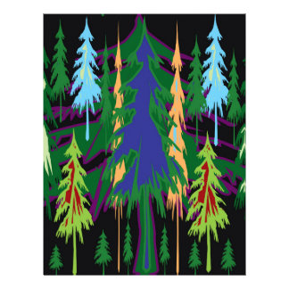 アマゾンギフトの密な森林木の抽象美術 レターヘッド