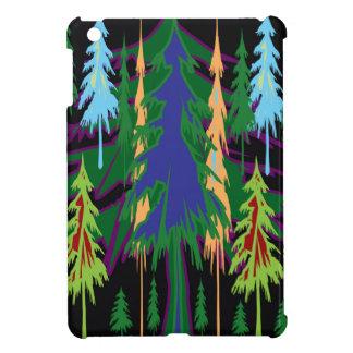 アマゾンギフトの密な森林木の抽象美術 iPad MINIケース