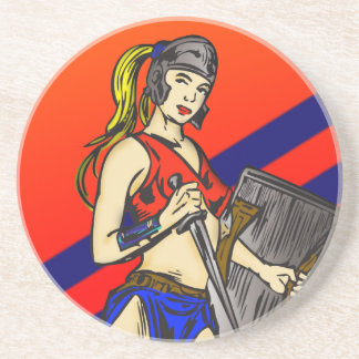 アマゾン女性の兵士 コースター