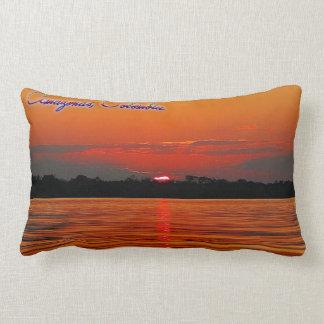 アマゾン川の日没のLumbarの枕 ランバークッション
