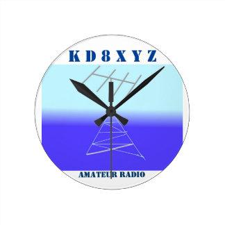 アマチュアラジオのための上品な場所の時計 ラウンド壁時計