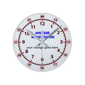 アマチュアラジオ局の時計 ラウンド壁時計