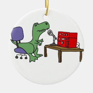 アマチュア無線のおもしろいなTレックスの恐竜 セラミックオーナメント