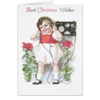 アマチュア無線のアンティークのクリスマス カード