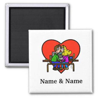 アマチュア無線のキスをするなカップルの磁石 マグネット