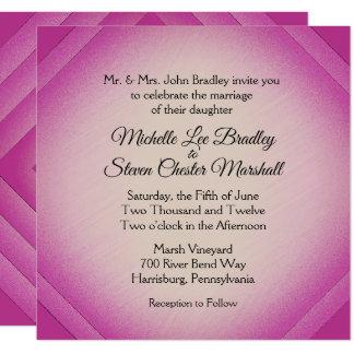 アマランサスのダイヤモンドの結婚式招待状 カード