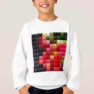 アマランサスの赤の抽象芸術の低い多角形の背景 スウェットシャツ