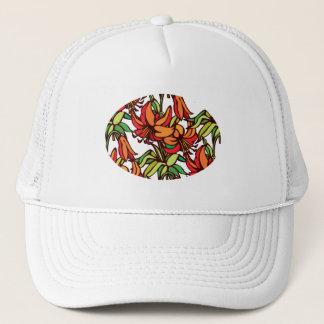 アマリリスのオレンジ花の開花 キャップ