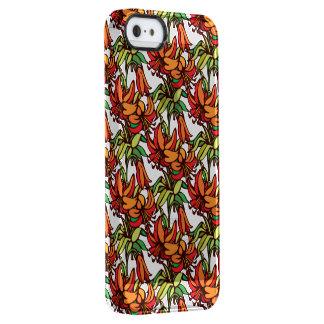アマリリスのオレンジ花の開花 クリア iPhone SE/5/5sケース