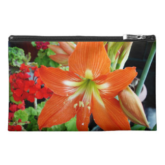 アマリリスの花が付いている特別なデザインのハンド・バッグ トラベルアクセサリーバッグ