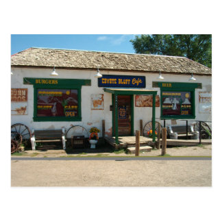 アマリロのテキサス州|の郵便はがきのコヨーテの絶壁のカフェ ポストカード