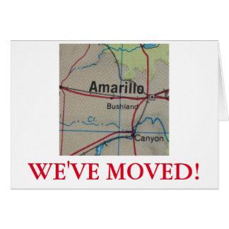 アマリロの引っ越しましたの住所発表 カード