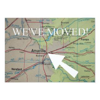 アマリロの引っ越しましたの新しい住所発表 カード
