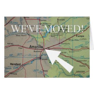 アマリロの新しい住所発表 カード