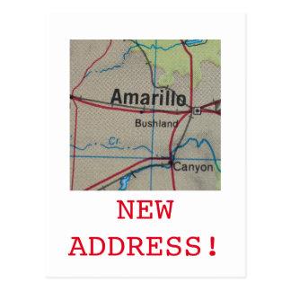 アマリロの新しい住所発表 ポストカード
