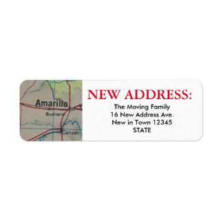 アマリロの新しい宛名ラベル ラベル